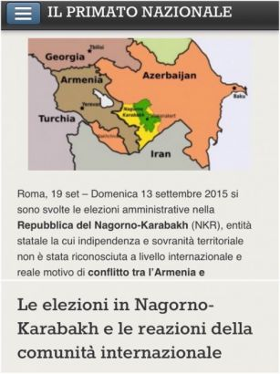 www.ilprimatonazionale.it analyzes elections to local self-government bodies of so-called republic of Nagorno-Karabakh