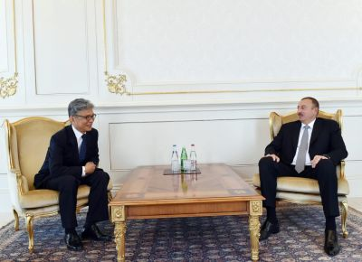 President İlham Aliyev receives the outgoing Korean Ambassador
