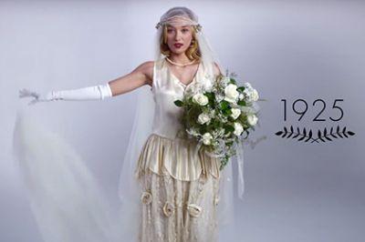 100-летняя эволюция свадебного платья за 3 минуты