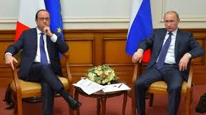 Russian and French Presidents meet