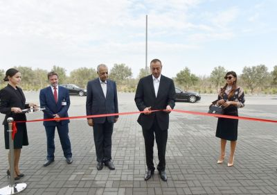 Azerbaijani President attended the opening of complex  PHOTOS