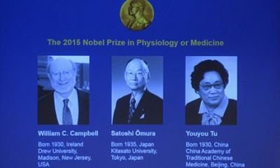 3 Pioneers win Nobel Prize in parasitic diseases