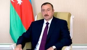 Azerbaijani President attends the opening of a new building in Ujar