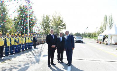 Prezident  Göyçayda bir sıra obyektlərin açılışını edib  - FOTOLAR
