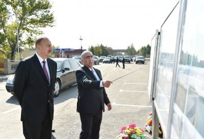 President Ilham Aliyev attended the opening of Goychay-Ujar highway PHOTOS