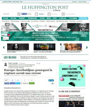 "French ""Le Huffington Post"" posts article to criticize statement adopted by EP on Azerbaijan"