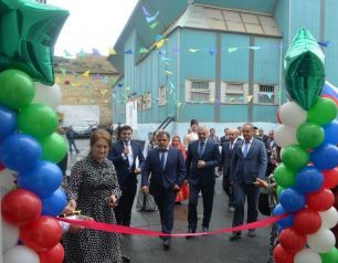 Opening of a general-education school reconstructed with Heydar Aliyev Foundation's support takes place in Derben