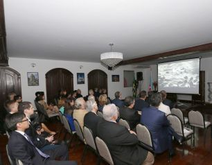 "Presentation of the documentary ""Targeting Baku. How Hitler lost the battle for Baku oil"" held in Brazil"