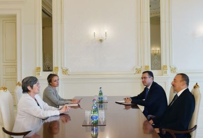 Azerbaijani President receives the Chair of the Board of Extractive Industries Transparency Initiative