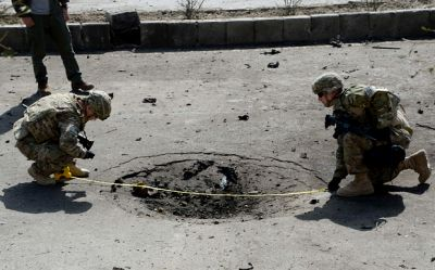 Suicide car bomb targets British military convoy in Kabul