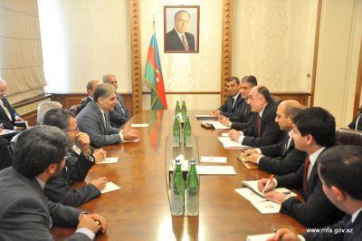 Elmar Mammadyarov receives Ismail Jabbarzadeh