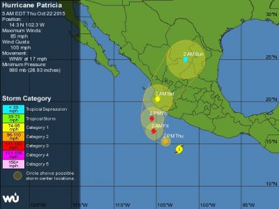 Hurricane Patricia Heads for Mexico