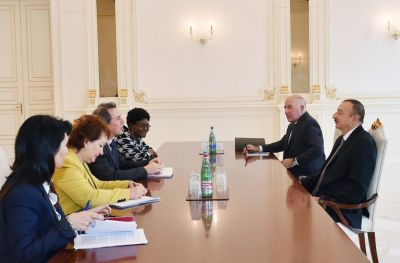 President Ilham Aliyev receives the Vice President of the World Bank
