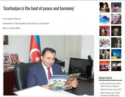 "Pakistani ""Global Affairs"" magazine publishes  Azerbaijani Ambassador's interview"
