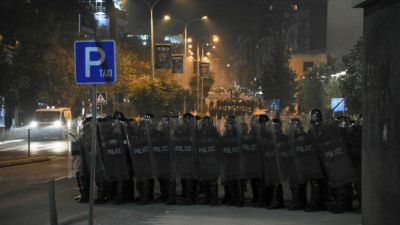 Police clash with opposition supporters in Kosovo