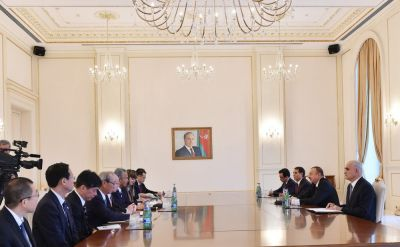 Azerbaijani President  receives Minister of State of Japan