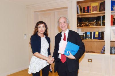 Мехрибан Алиева встретилась с президентом Страсбургского университета