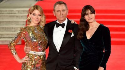 Bond stars join Royals for Spectre premiere  PHOTOS