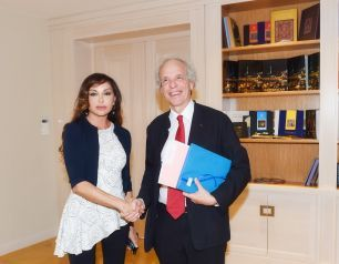 President of the Heydar Aliyev Foundation Mehriban Aliyeva meets President of the Strasbourg University