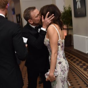 Daniel Craig  and his wife at Spectre premiere