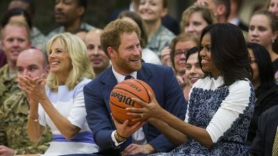 Prince Harry meets with Barack and Michelle Obama