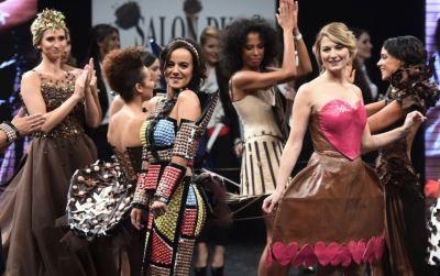 Платья из шоколада