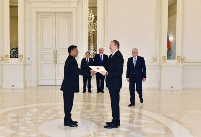 Azerbaijani President receives the credentials of the incoming Indian Ambassador PHOTOS