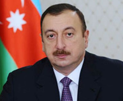 Azerbaijani Presidetn arrives in Zagatala