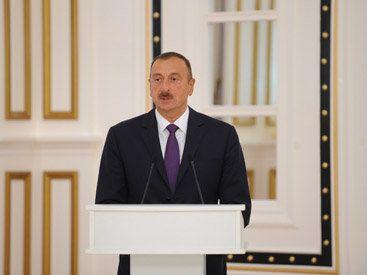 Ильхам Алиев принял участие в открытии