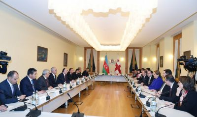 The Azerbaijani and Georgian presidents held an expanded meeting