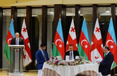 Official dinner reception hosted  in honor of Azerbaijani President I