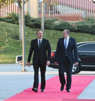 The Azerbaijani and Georgian presidents visited the training center in Marneuli