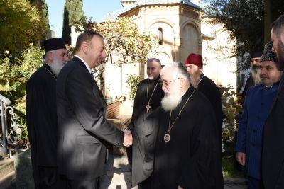 Ильхам Алиев встретился с Патриархом Грузинской православной церкви ФОТО