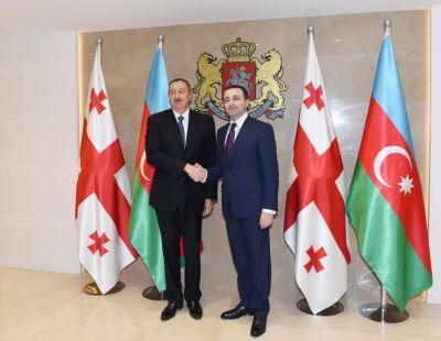 Состоялась встреча Ильхама Алиева с премьер-министром Грузии
