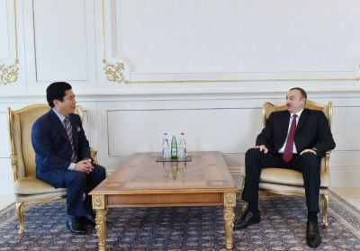 Azerbaijani President Ilham Aliyev receives newly appointed Korean Ambassador