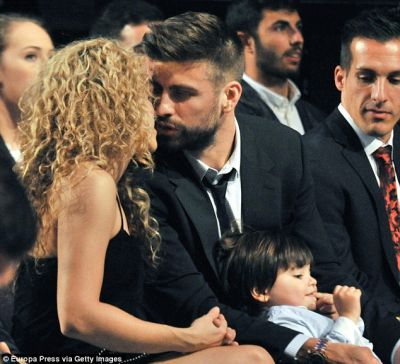 Shakira and son Milan watch Gerard Pique at Barcelona ceremony  PHOTOS