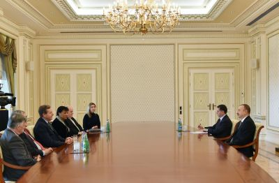 President Ilham Aliyev receives  British delegation