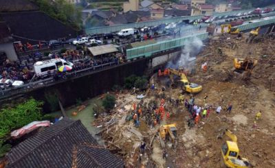 China: 21 killed in landslide