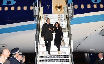 Президент Азербайджана прибыл с рабочим визитом во Францию