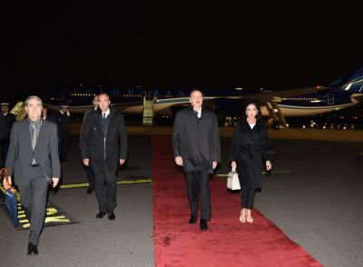 President Ilham Aliyev arrived in France