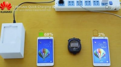 Quick-charge battery revealed by Huawei