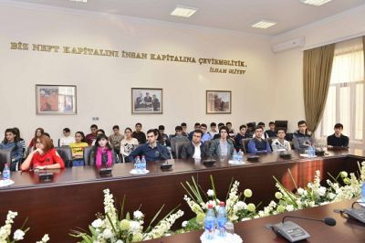 Baku Higher Oil School Student Week Meeting PHOTOS