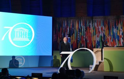 Azerbaijani President attended the Leaders' Forum of the 38th Session of UNESCO General Conference