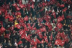 "Turkish fans shout ""Allahu Akbar"" during silence for Paris victims"