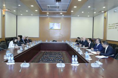A meeting held with Co-chairmen of US-Azerbaijan Chamber of Commerce