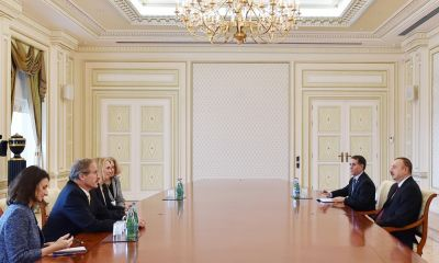 Azerbaijani President receives Bridget Brink