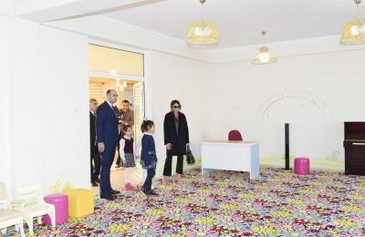 Azerbaijan's First Lady  attends opening of orphanage-kindergarten in Buzovna