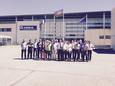 Azercosmos specialists trained in France