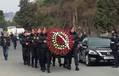 Police officers killed in armed incident in Baku's Nardaran buried PHOTOS