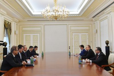 Azerbaijani Presdient receives Turkish Foreign Minister